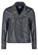 Burton Menswear London PERCY Kunstlederjacke black