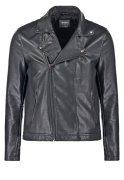 Burton Menswear London PERCY Kunstlederjacke black