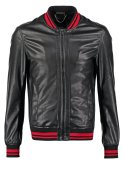 Criminal Damage Kunstlederjacke black/red