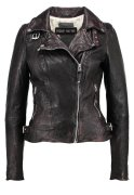 Freaky Nation FANTASY Lederjacke dark anthra