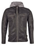 Freaky Nation MOTORHOOD Lederjacke black