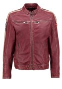 Gipsy RACE SLIM FIT Lederjacke wine beige