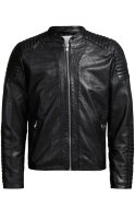 Jack & Jones Lederjacke black