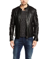 Kings on Earth Herren Lederjacke Rash, Gr. Medium, Schwarz (schwarz 1) -