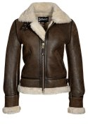 Schott NYC Lederjacke dark brown
