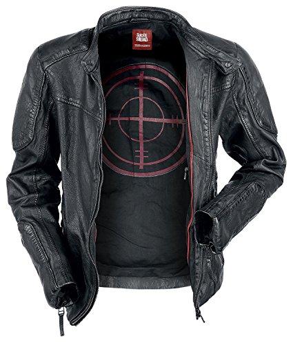 Suicide Squad Deadshot Leder-Jacke schwarz XXL