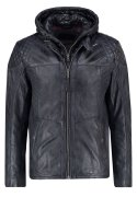 TOM TAILOR Lederjacke black/grey