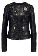 Versace Jeans Lederjacke nero