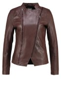 Cream CALI Lederjacke dark brown