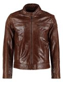 Serge Pariente DAVID Lederjacke oxblood