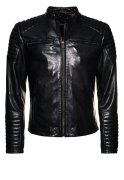 Superdry LEADING Lederjacke black