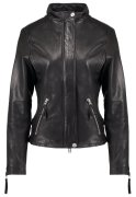 True Religion Lederjacke black