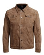 Jack & Jones Wildleder- Lederjacke