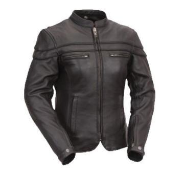 Australian Bikers Gear – Sturgis Tour – Damen Motorrad-Lederjacke – Protektoren – 42 (XL)