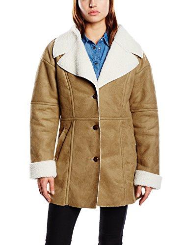 Blend Damen Lederjacke Mantel Sheapa coat