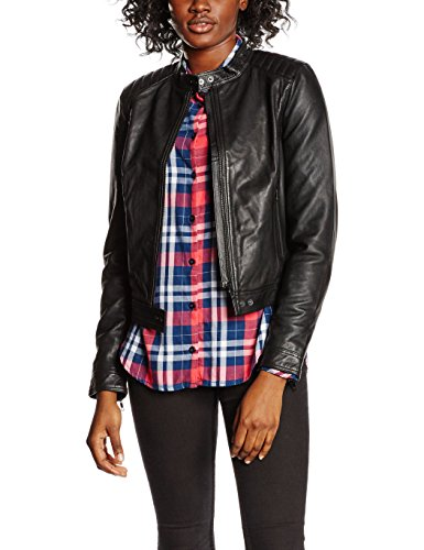 SELECTED FEMME Damen Jacke Sfhanni Ls Leather Jacket Noos