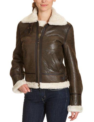 Schott NYC Damen Jacke LCW1257, Fellkragen (nicht abnehmbar)