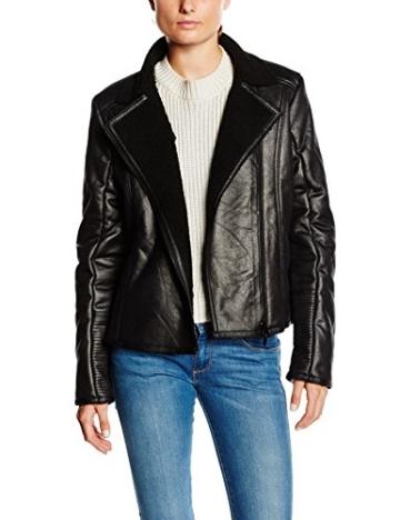 TOM TAILOR Damen Lederjacke fake shearling biker jacket/508