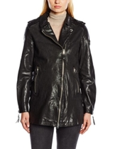 True Religion Damen Lederjacke Mantel WMNS LEATHER COAT
