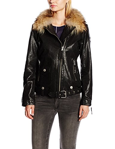 True Religion Damen Lederjacke WMNS BOYFRIEND LEATHER RACCOON