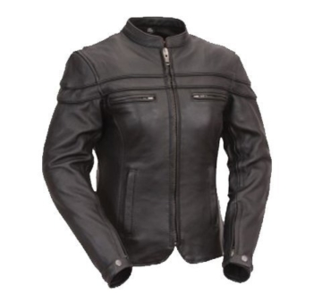Australian Bikers Gear – Sturgis Tour – Damen Motorrad-Lederjacke – Protektoren – 42 (XL) -