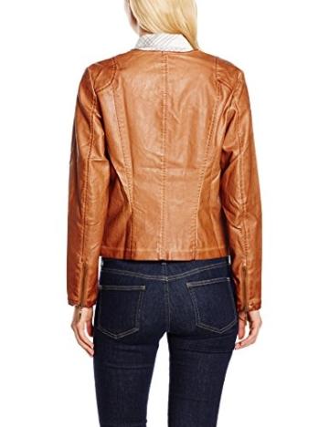 GINA LAURA Damen Jacke Fake Lederjacke, Garment Gefärbt -