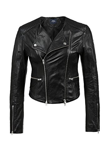 Q/S designed by Damen Lederjacke in Bikerform -
