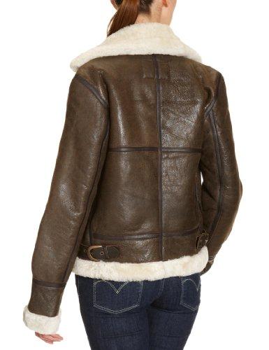 Schott NYC Damen Jacke LCW1257, Fellkragen (nicht abnehmbar) -