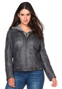 sheego Casual Lederjacke