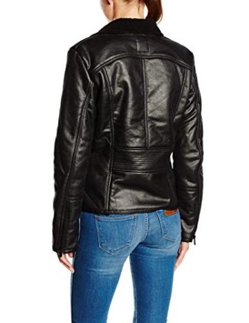 TOM TAILOR Damen Lederjacke fake shearling biker jacket/508 -