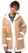 TOM TAILOR DENIM Lederjacke »reversible coat with hood«