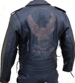 Lederjacke Leder Jacke für Biker Chopper Mottoradjacke Motorrad Rocker Punk -
