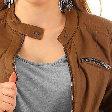 Only Damen Jacken / Lederjacke onlReady Faux Leather braun 42 -