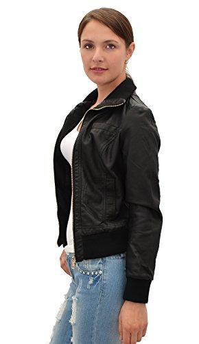 by-tex Damen Lederjacke Damen Collegejacke Damen Jacke Kunstleder in 25 Farben M08 -