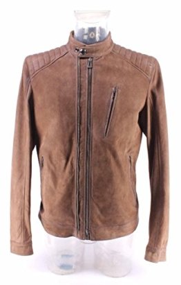 Herren Jacken BELSTAFF 71020307 Leigham Blouson Man Dusty Brown Wildleder Neu - 1