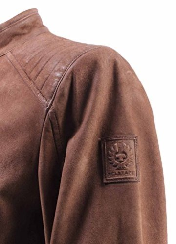 Herren Jacken BELSTAFF 71020307 Leigham Blouson Man Dusty Brown Wildleder Neu - 5