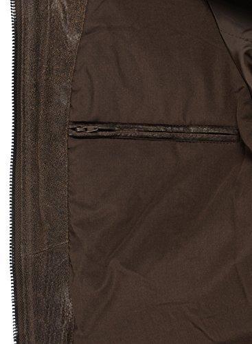 SOLID Fash Herren Lederjacke Echtleder Bikerjacke mit Stehkragen, Größe:XL, Farbe:Tabacco (5050) -