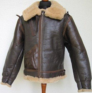 US B3 Eastman Flight Jacket Fliegerjacke .50 Cal Leatherjacket (40) - 2