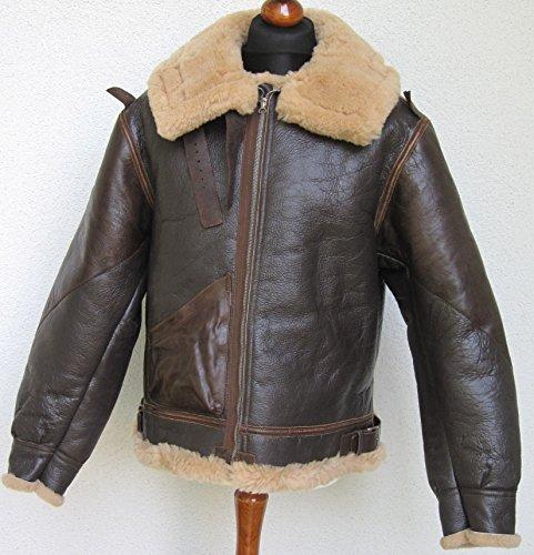 US B3 Eastman Flight Jacket Fliegerjacke .50 Cal Leatherjacket (40) - 3