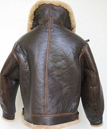 US B3 Eastman Flight Jacket Fliegerjacke .50 Cal Leatherjacket (40) - 4