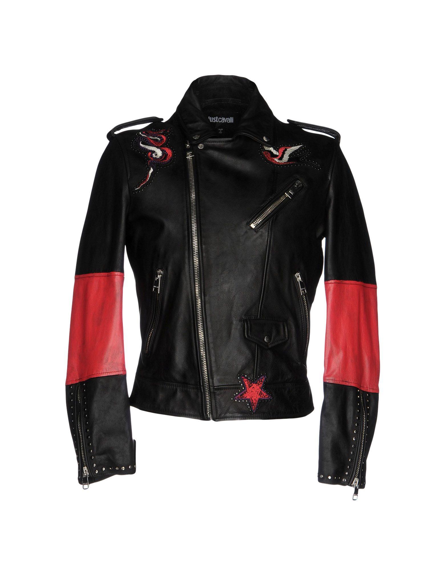 JUST CAVALLI Herren Jacke Farbe Schwarz Größe 4