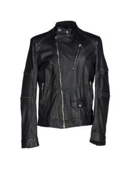 JUST CAVALLI Herren Jacke Farbe Schwarz Größe 5