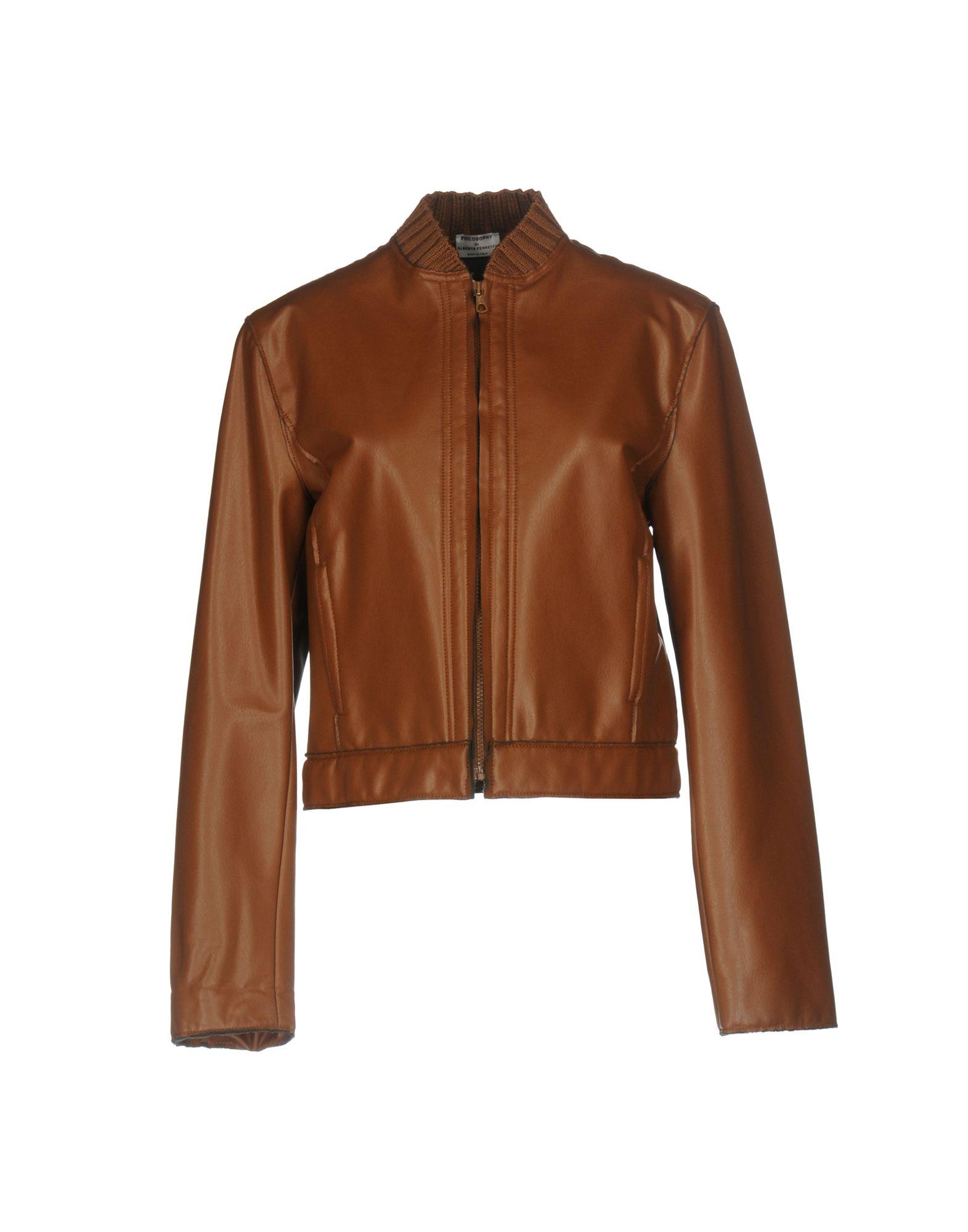 PHILOSOPHY di ALBERTA FERRETTI Damen Jacke Farbe Braun Größe 6