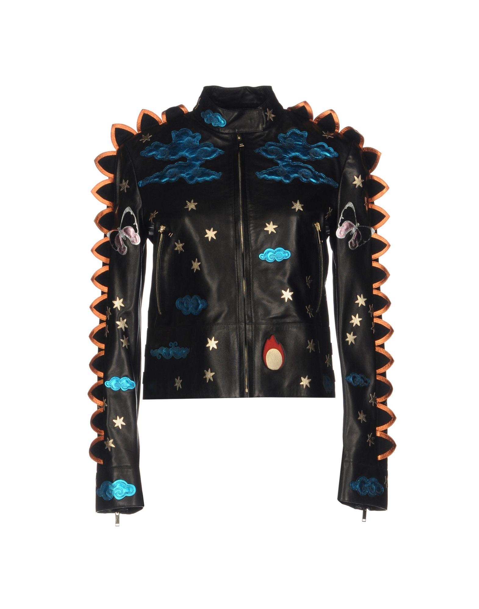VALENTINO Damen Jacke Farbe Schwarz Größe 3