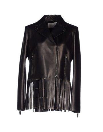 VALENTINO Damen Jacke Farbe Schwarz Größe 4